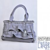 Lana Grey Leather Effect Ruffle Design with Silver Chain/Link Detail Oversized Hand Bag